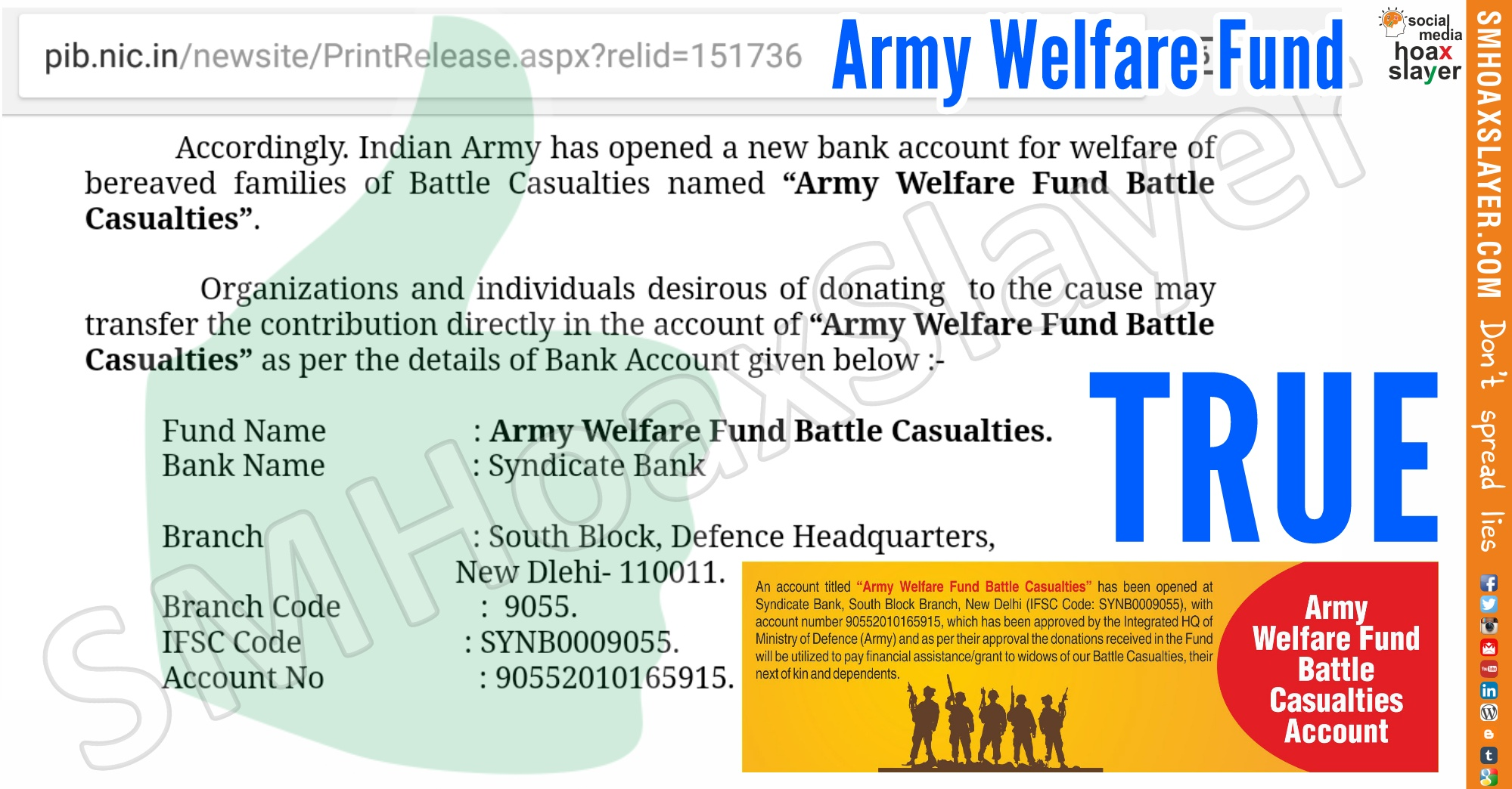 Image result for military welfare  fund syndicate bank
