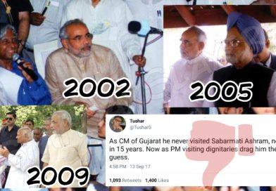 Did Modi ji never visit Sabarmati Ashram being CM as Tushar Gandhi claims ?