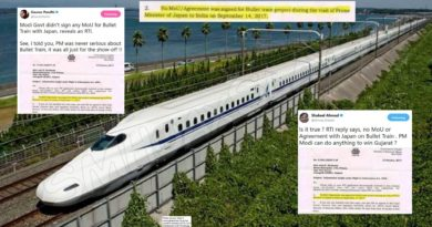 Hasn't there been any MoU of Bullet Train signed at all ? Did RTI expose it ?