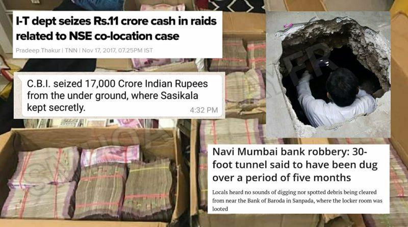 CBI seized 17,000 Crore from under ground, where Sasikala kept secretly ?