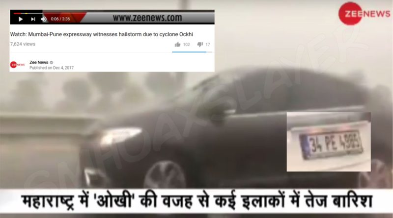 No Hailstorm on Mumbai Pune Highway, it was Istanbul, Turkey infact.