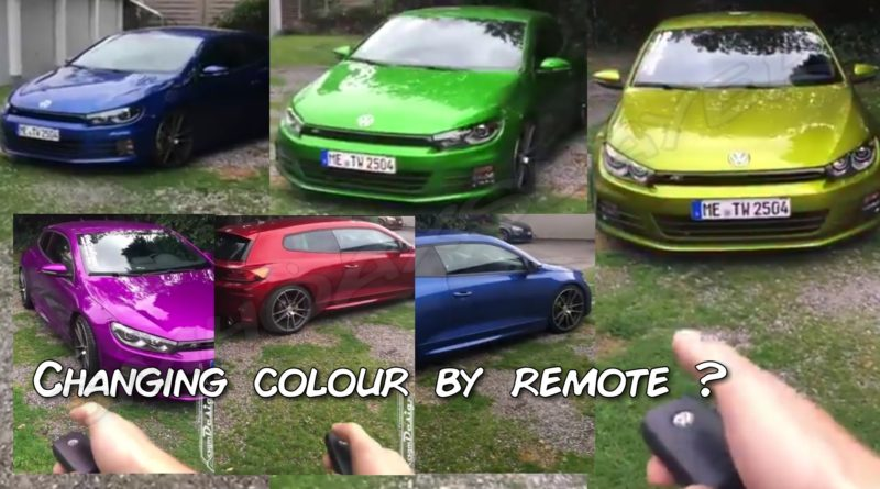 This car can't change colors by remote yet.