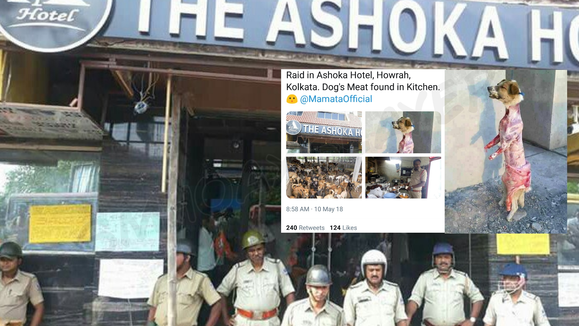 Was dog meat found in Ashoka Hotel raid ? - Swachh Social Media Abhiyaan