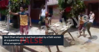Viral video showing man refusing food because of a Dalit cook is shared with false claims