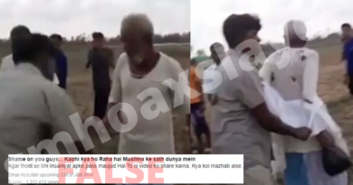 The video of RSS members attacking senior citizen in India is actually from Bangladesh